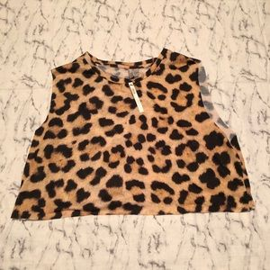Printed Beach Crop Top- Sz 10 NWT